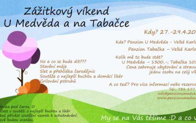 Zážitkový víkend  U Medvěda a na Tabačce